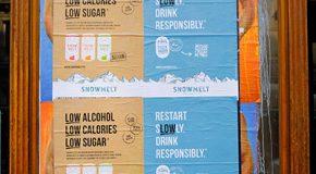 Soda alcoolisé Snowmelt – Des affichages sauvages pour s'affranchir de la loi